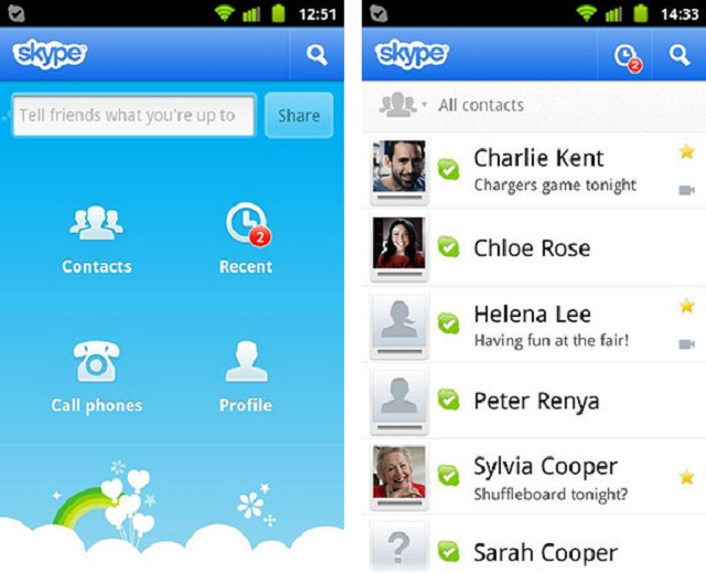 Программа Скайп для телефона