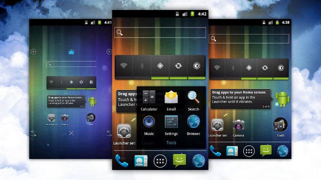 оболочки для андроид планшетов
