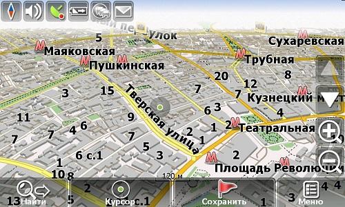 карта москвы в навигаторе